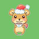 Santa Hat Bear - Merry Christmas! by beaglecakes