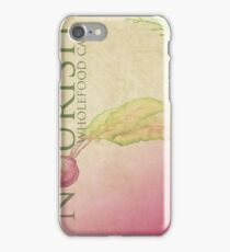 Nourish Cafe - Menu background iPhone Case/Skin