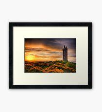 Sunset at Scrabo Tower Framed Print