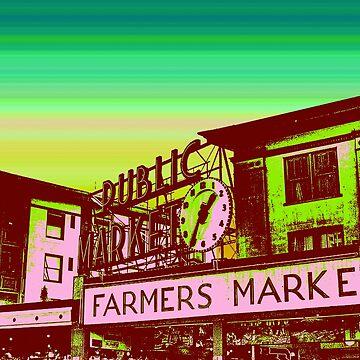 Pikes Market Vintage Art by joshburt