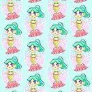 Teal Mermaid Princess by beaglecakes