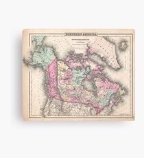 Vintage Map of Canada (1857)  Canvas Print