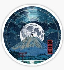 Mt. Fuji Night LP Sky Sticker