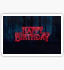 Stranger Things - Happy Birthday Sticker