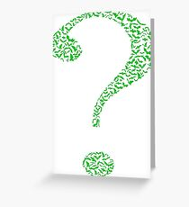 The Riddler Question Mark Greeting Card