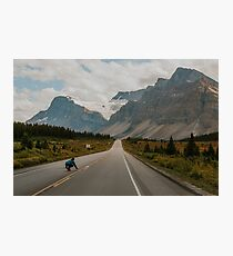 skating the icefields parkway Photographic Print