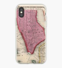 Vinilo o funda para iPhone Vintage Map of Lower New York City (1860)