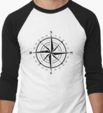 True North Compass Nautical Love Men's Baseball ¾ T-Shirt