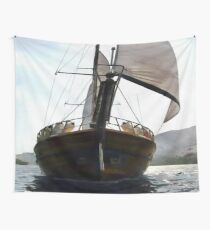 Gulet Under Sail Wall Tapestry
