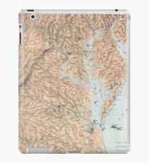 Vintage Map of The Chesapeake Bay (1861) iPad Case/Skin