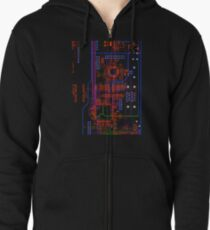 Circuit_1 Zipped Hoodie