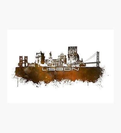 Lisbon brown art Photographic Print