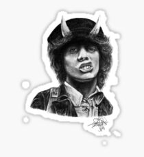 Angus Young - AC/DC Sticker