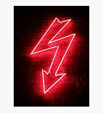 Red Neon Photographic Print
