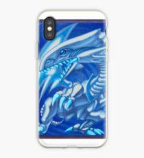 Blue eyes white dragon iPhone Case