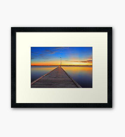 Como Jetty - Western Australia  Framed Print