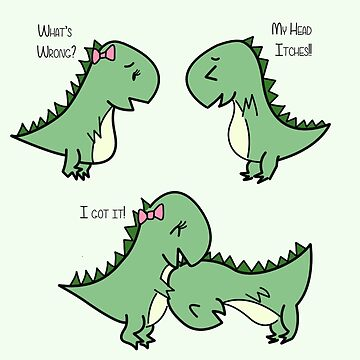 Itchy Head Dinos!  von charsheee