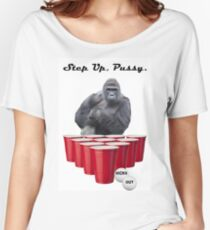 Harambe Beer Pong Step Up Women's Relaxed Fit T-Shirt