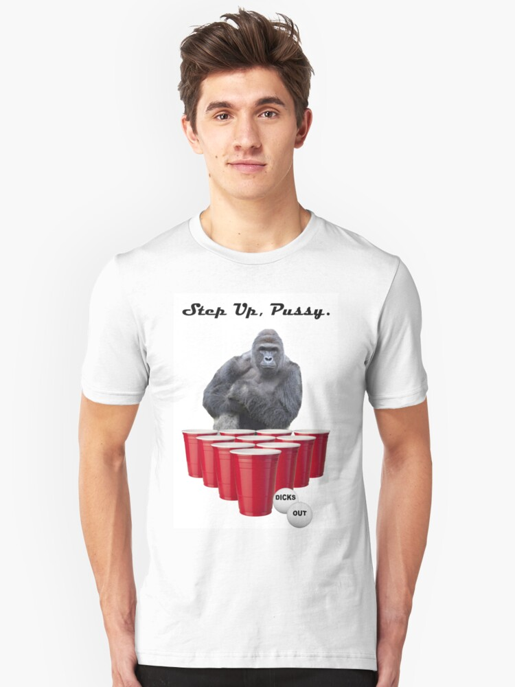 Harambe Beer Pong Step Up Unisex T-Shirt Front