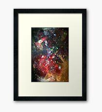 galaxy mesh up Framed Print