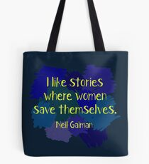 Neil Gaiman (feminist at heart) Dark Tote Bag