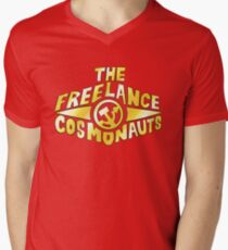 The Freelance Cosmonauts- Logo (Gold w/red) T-Shirt