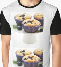 Blueberry Muffins on cake stand Graphic T-Shirt