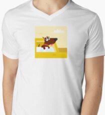 Happy brown dog travel in the car. VECTOR ILLUSTRATION. T-Shirt