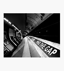 London - Underground - Mind The Gap Photographic Print