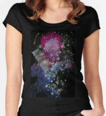 Brush and Ink - 0282 - Glitter and Glam Women's Fitted Scoop T-Shirt