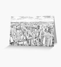 View of Sao Paulo, Brazil Greeting Card
