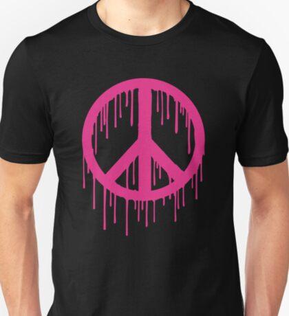 Pink Trendy modern Graffiti style Peace T-Shirt
