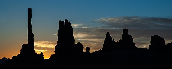 Sunrise at the Totem Pole by GeorgeBuxbaum