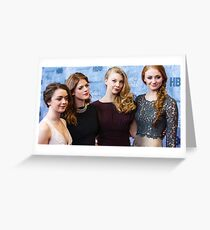 game of thrones girls  Greeting Card