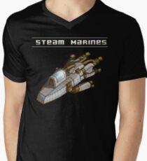 Steam Marines - Transparent Logo Men's V-Neck T-Shirt