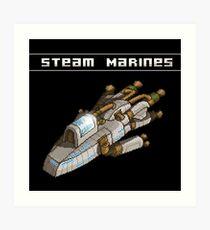 Steam Marines - Transparent Logo Art Print