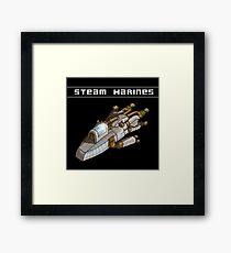 Steam Marines - Transparent Logo Framed Print