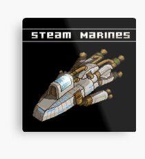 Steam Marines - Transparent Logo Metal Print