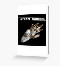 Steam Marines - Transparent Logo Greeting Card