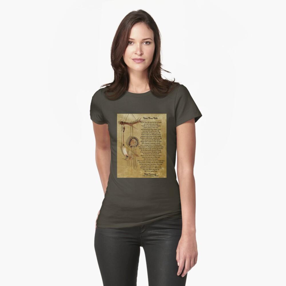 """""""Lebe dein Leben"""" von Chief Tecumseh Traumfänger Tailliertes T-Shirt"""