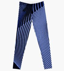 Blue waves, line art, curves, abstract pattern Leggings
