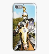 jousting knight iPhone Case/Skin