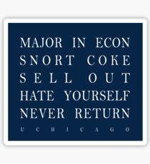 Major in Econ Sticker