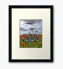 A Tribute To The Dambusters 617 Squadron Crews 1943 Framed Print