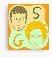 Simon and Garfunkel concept Canvas Print