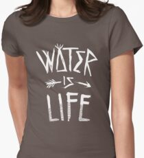 Water Is Life Shirt Womens Fitted T-Shirt