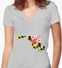 Maryland Women's Fitted V-Neck T-Shirt