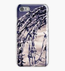 coil of blue toned barbed wire iPhone Case/Skin