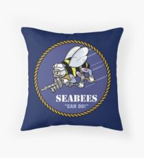 US NAVY SEABEES CAN DO! Mascot Throw Pillow