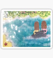 Two Mermaids Sticker